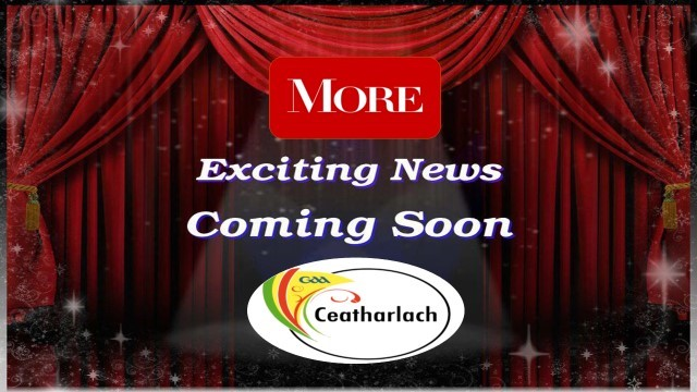 STAY TUNED FOR ANNOUNCEMENT AT 2.30PM