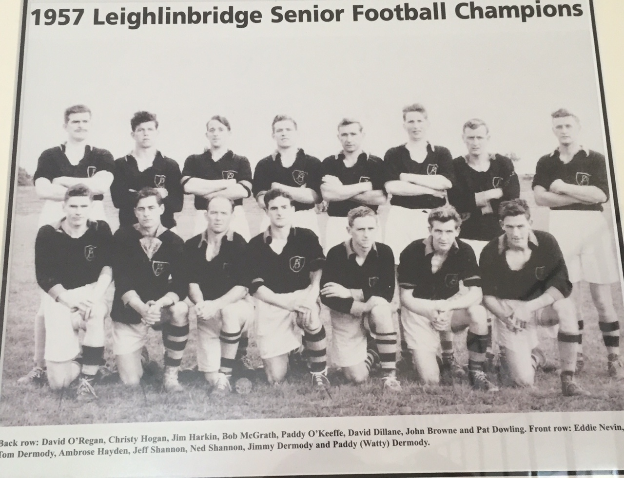 Archive slot: 1957 Footballers of Leighlinbridge