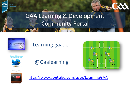 THE GAA'S LEARNING PORTAL COMES TO TOWN