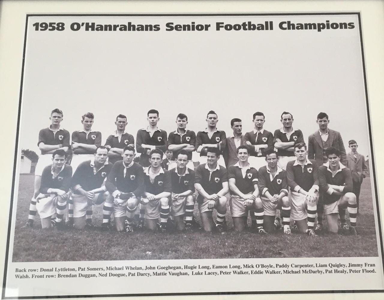 archive slot: 1958 football champs o'hanrahans