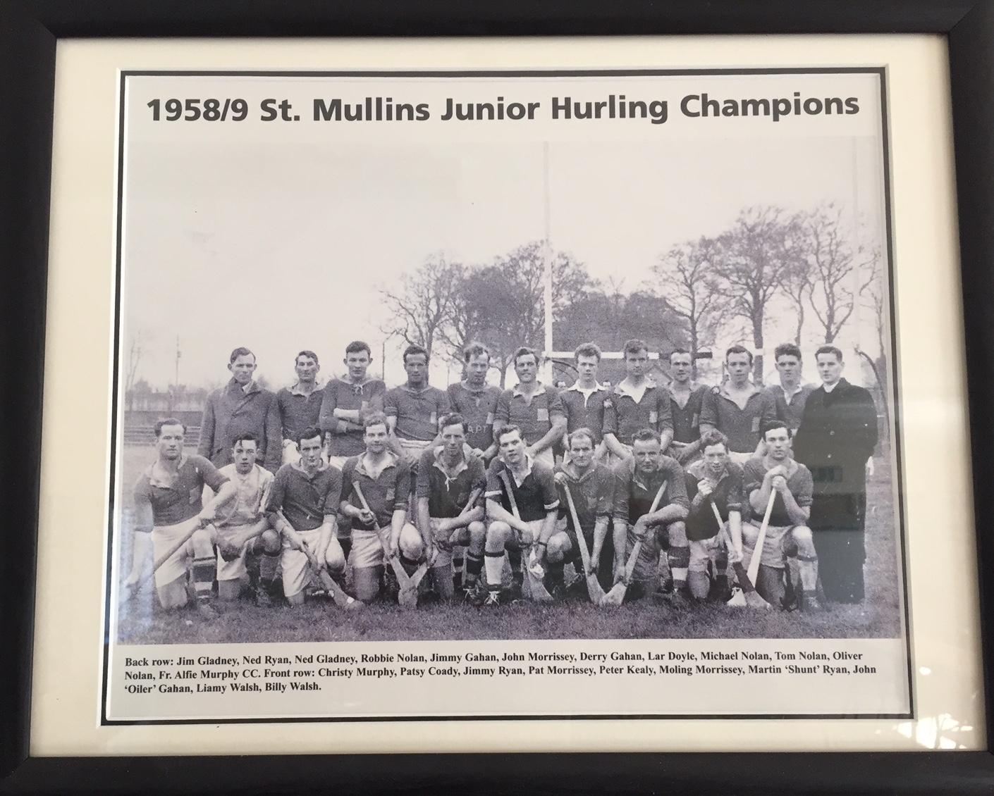 ARCHIVE SLOT; ST. MULLINS 1958 CHAMPIONS