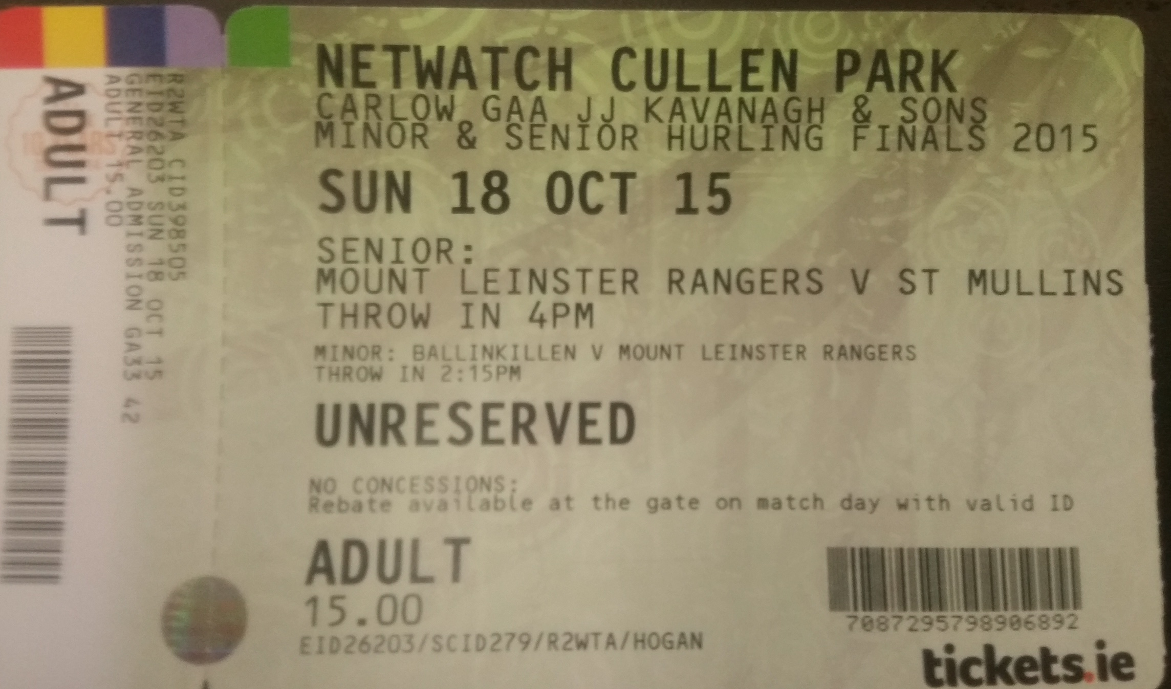 hurling tickets on sale now !!!