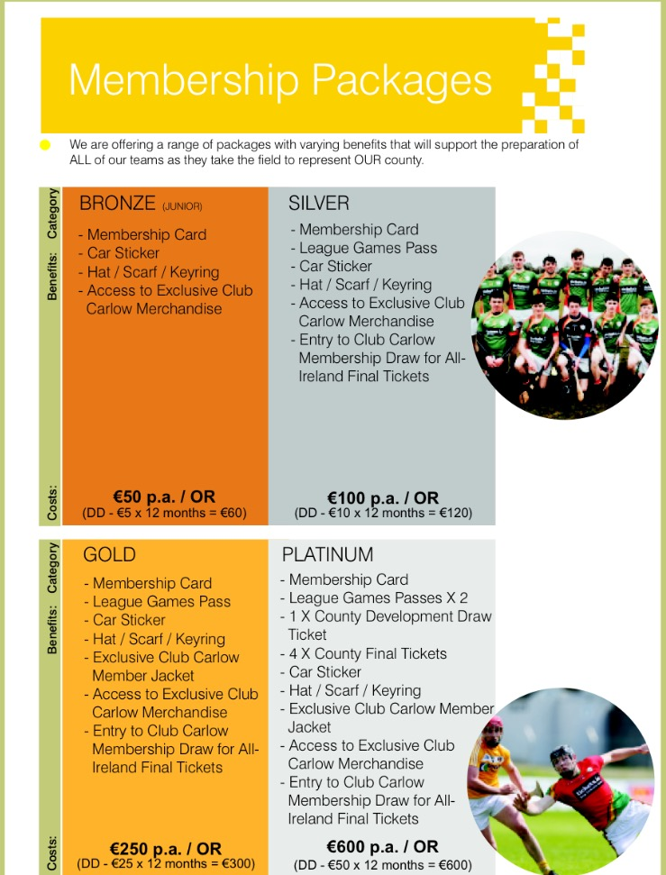 Club Carlow Packages