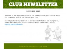 Newsletter GAA