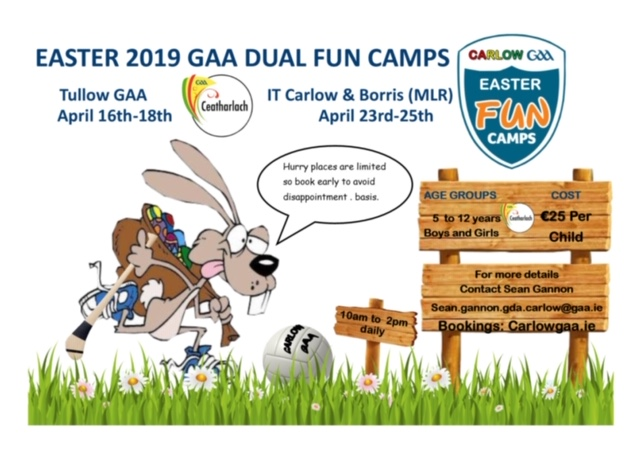 easter camps open for booking !
