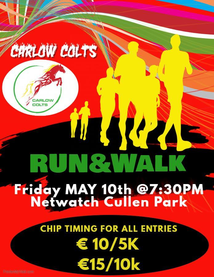 carlow colts 5k & 10k road race !