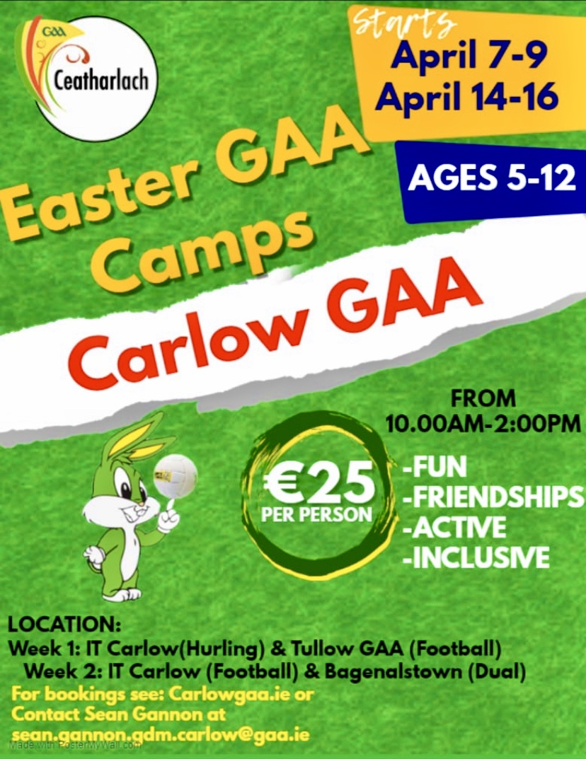 EASTER CAMPS – CANCELLED